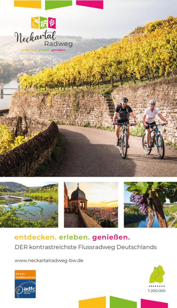 Übersichtskarte Neckartal-Radweg